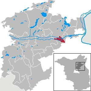 Karte von Niederfinow