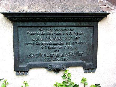 Bild von Gerlingen: Elterngrab Schillers an der Petruskirche in Gerlingen
