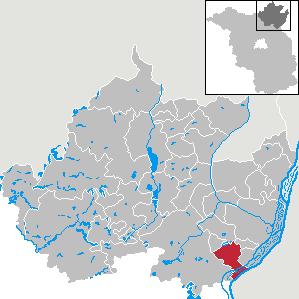 Karte von Schöneberg (Uckermark)