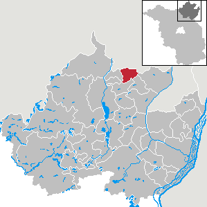 Karte von Schönfeld (Amt Brüssow)