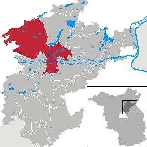 Karte von Schorfheide (Gemeinde)