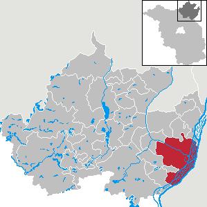 Karte von Schwedt/Oder