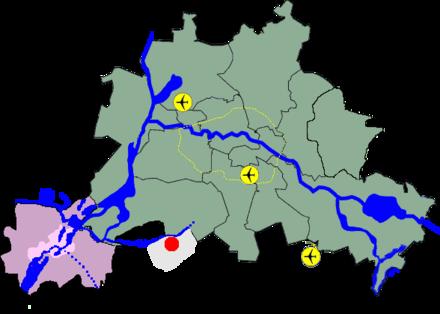 Bild von Teltow: Lage an der Stadtgrenze Berlins
