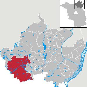 Karte von Templin