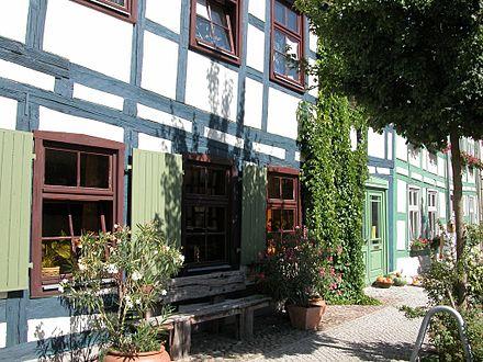 Bild von Templin: Fachwerkhaus am Markt