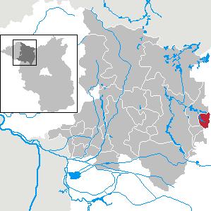 Karte von Vielitzsee (Gemeinde)
