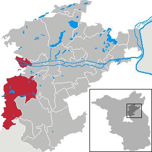 Karte von Wandlitz