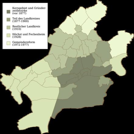 Bild von Frankfurt am Main: Eingemeindungen von Frankfurt am Main