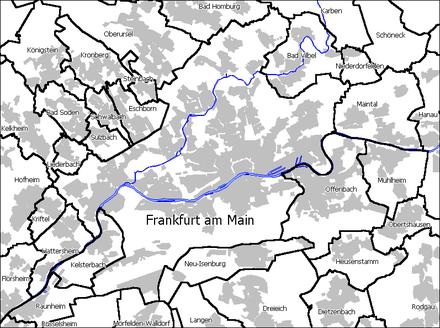 Bild von Frankfurt am Main: Frankfurt und Nachbargemeinden