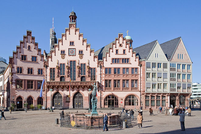 Bild von Frankfurt am Main: Der Römer ist Frankfurts Rathaus und ein Wahrzeichen der Stadt.