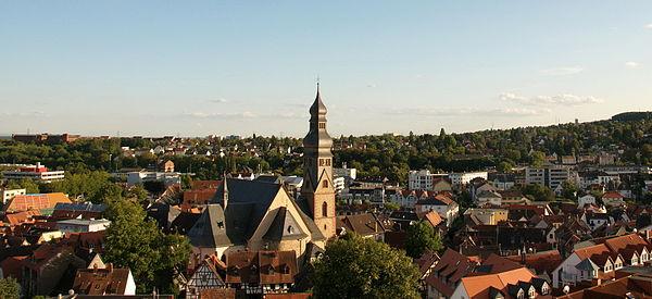 Bild von Hofheim am Taunus: Stadt Hofheim am Taunus mit Kirche St. Peter und Paul