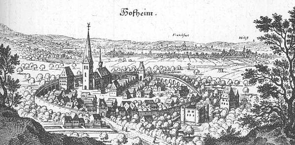 Bild von Hofheim am Taunus: Hofheim am Taunus – Auszug aus der Topographia Hassiae von Matthäus Merian 1655