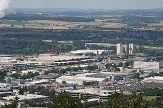 Bild von Heilbronn: Der Osthafen im Industriegebiet