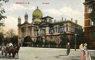 Bild von Heilbronn: Die ehemalige Heilbronner Synagoge um 1900