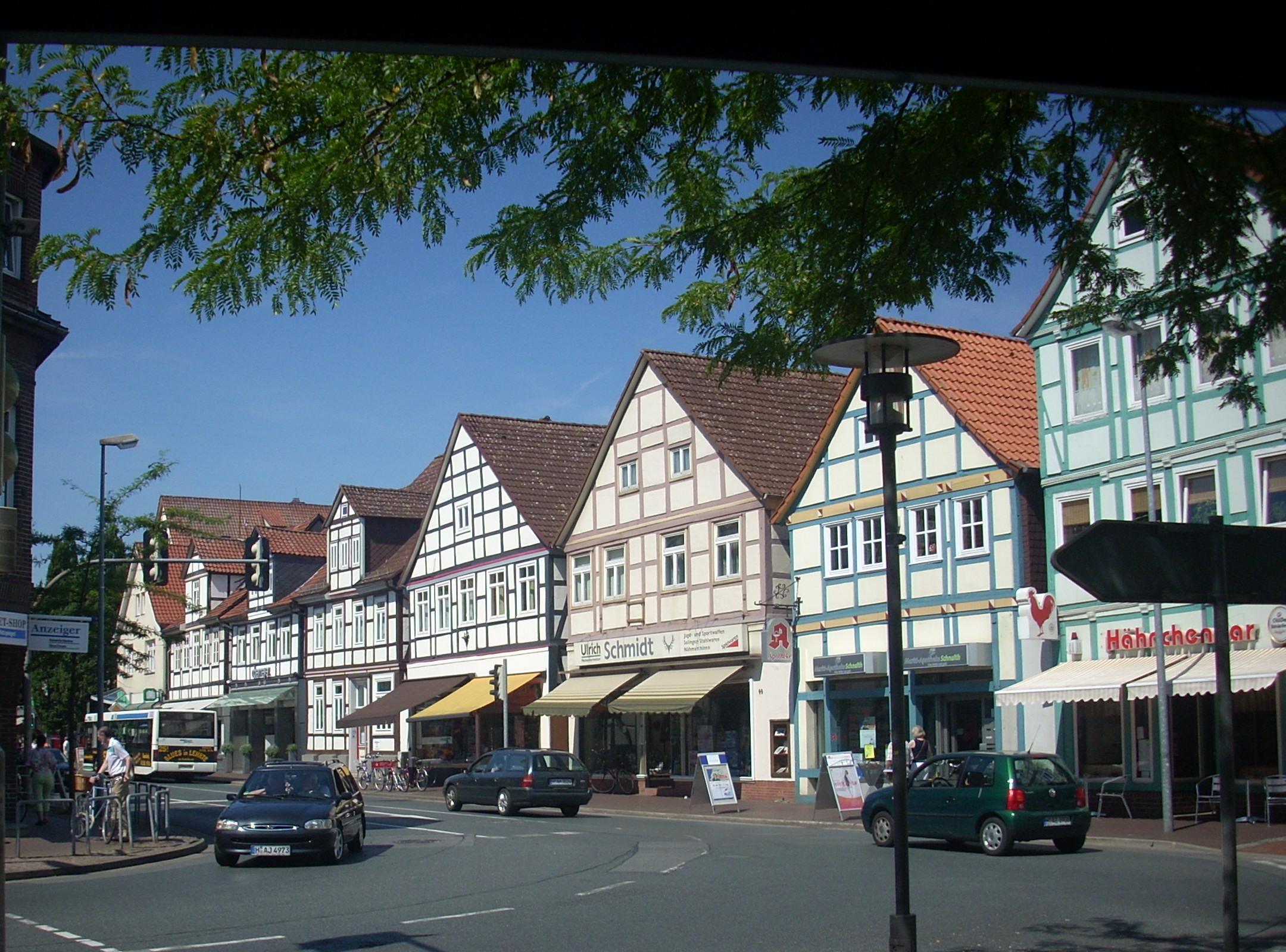 Bild von Burgdorf (Region Hannover): <center>Häuser an der Markstraße</center>