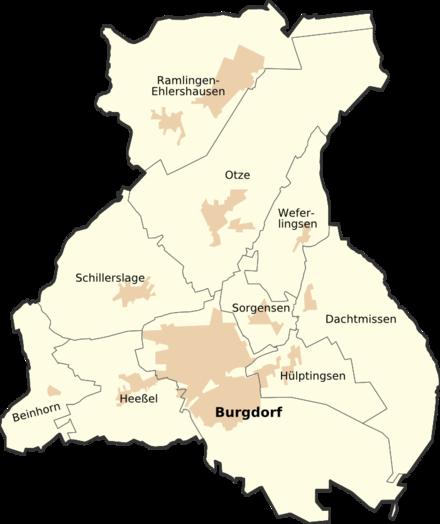 Bild von Burgdorf (Region Hannover): Die Ortsteile Burgdorfs