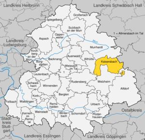 Karte von Kaisersbach