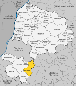 Karte von Karlsbad (Baden)
