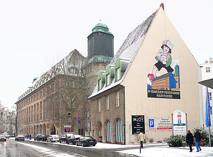 Bild von Hannover: Ehemalige Keksfabrik (heute Verwaltung) Bahlsen
