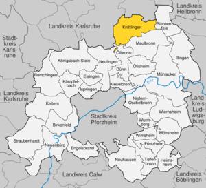 Karte von Knittlingen