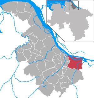 Karte von Jork