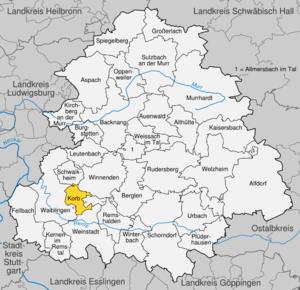 Karte von Korb (Württemberg)