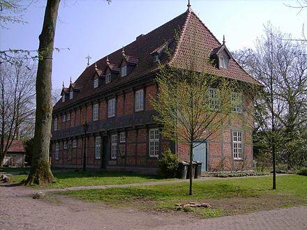 Bild von Osterholz-Scharmbeck: Vorderseite des Haupthauses von Gut Sandbeck