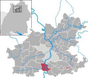 Karte von Lauffen am Neckar