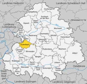 Karte von Leutenbach (Württemberg)