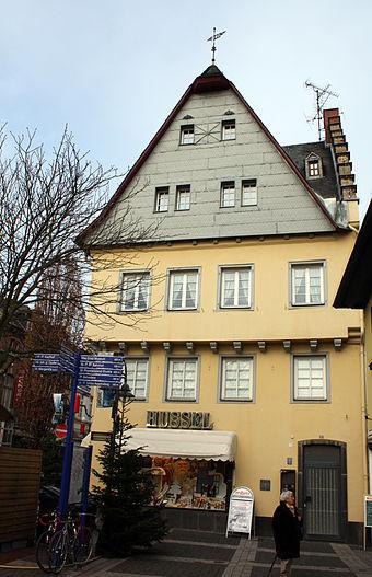 Bild von Brühl (Rheinland): 'Haus zum Stern' am Markt, erbaut 1530/31