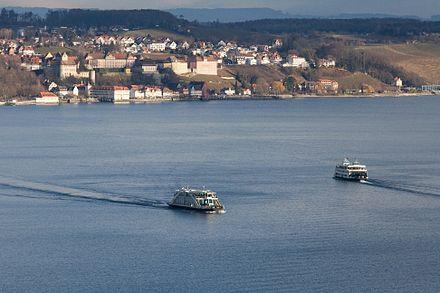 Bild von Meersburg: Fähre zwischen Konstanz-Staad und Meersburg, Unter- und Oberstadt von Meersburg