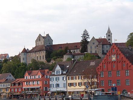 Bild von Meersburg: Meersburger Schiffsanlegestelle, rotes Gredhaus mit Staffelgiebel