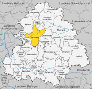 Karte von Backnang