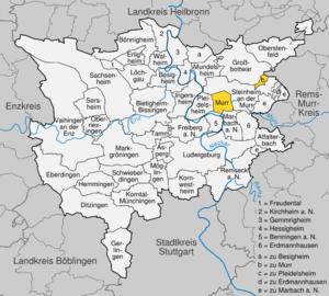 Karte von Murr (Gemeinde)