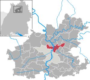 Karte von Neckarsulm