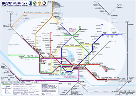 Bild von Hamburg: Bahnlinien im HVV