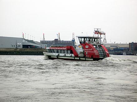 Bild von Hamburg: HADAG-Fähre auf der Elbe