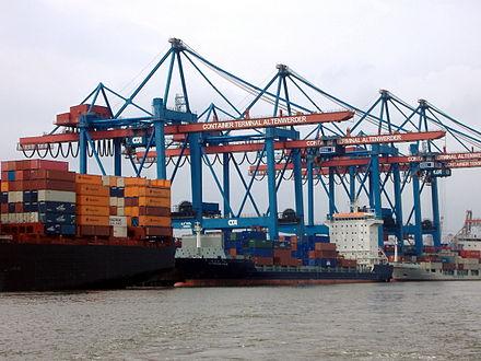 Bild von Hamburg: Container Terminal Altenwerder