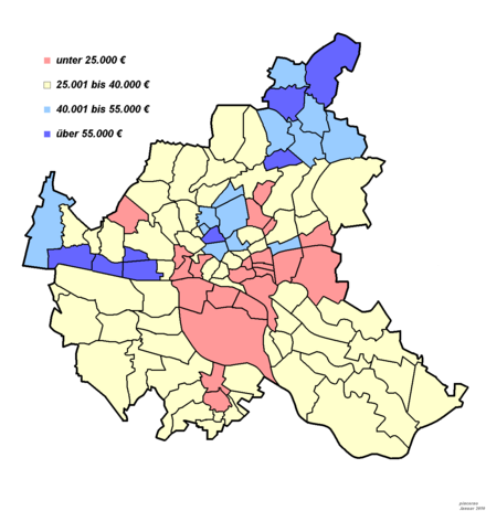 Bild von Hamburg: Einkommensstruktur; Name und Lage der einzelnen Stadtteile hier