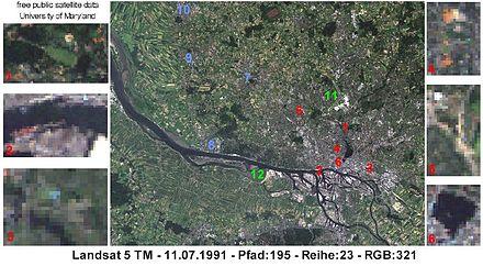 Bild von Hamburg: Hamburg aus dem Weltall