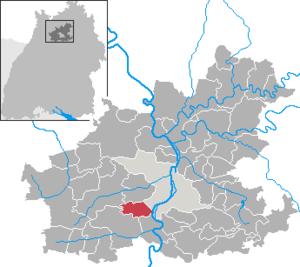 Karte von Nordheim (Württemberg)