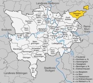 Karte von Oberstenfeld