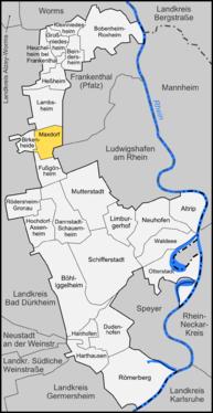 Karte von Maxdorf