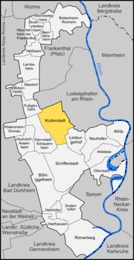 Karte von Mutterstadt