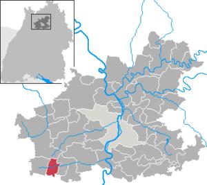 Karte von Pfaffenhofen (Württemberg)