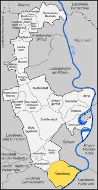 Karte von Römerberg (Pfalz)