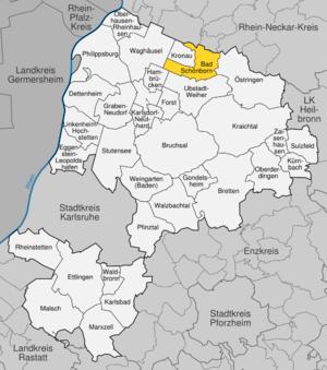 Karte von Bad Schönborn