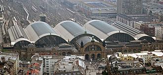 Bild von Hessen: Hauptbahnhof in Frankfurt: Drehscheibe des deutschen Zugverkehrs