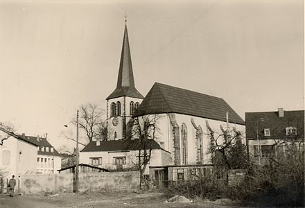 Bild von Trier: St.-Antonius-Kirche am Viehmarkt etwa 1957