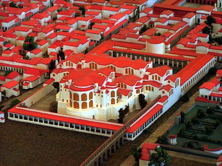 Bild von Trier: Modell der früheren Kaiserthermen